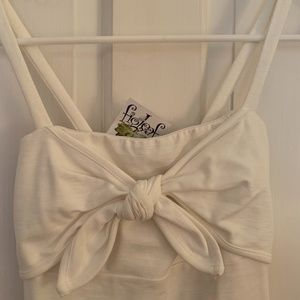 figleaf White Bow Dress
